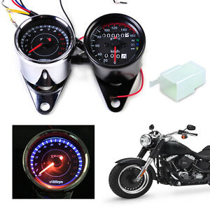 motorrad led tachometer speedometer drehzahlmesser f r. Black Bedroom Furniture Sets. Home Design Ideas