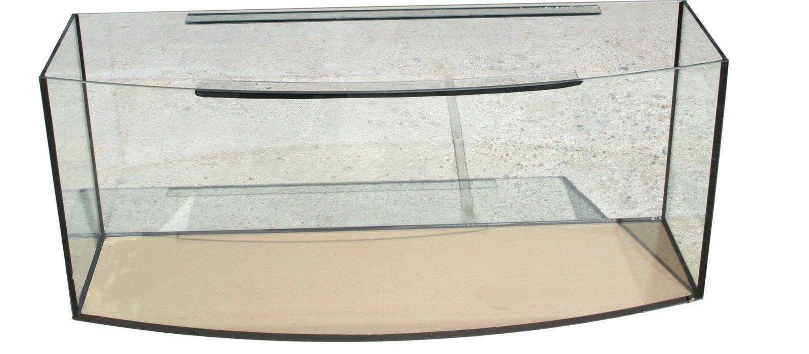 Aquarium 120 x 40 x 50 cm 8 mm Floatglas Becken Gebogen 216 Liter Top Qualität