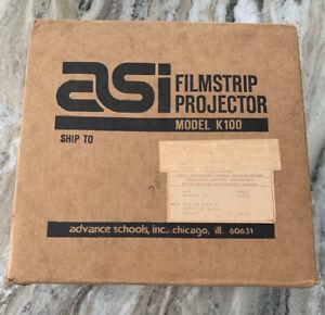 Vintage ASI FILM STRIP PROJECTOR, Model 351-2, Hudson Photographic, Portable