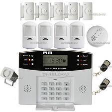 LCD di sicurezza Wireless GSM Composizione HOME CASA UFFICIO ANTIFURTO intruso ALLARME ANTINCENDIO