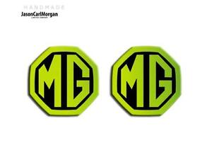 MG-ZR-MK1-LE500-Style-Badge-Front-Grill-Rear-Boot-Insert-Badges-59mm-Glow-Green