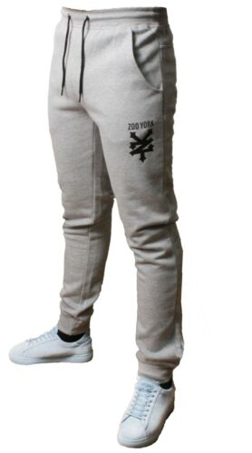 Mens Zoo York Logo Fleece Joggers Jogging Bottom Sweat Pants Trousers Fit Gym
