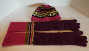MISSONI-for-Target-ZIG-ZAG-Womens-Purple-Sweater-Hat-and-Long-Gloves-Set-PERFECT