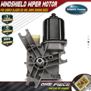 A-Premium Windshield Wiper Motor Front for Chevrolet Blazer S10 GMC Jimmy Sonoma Isuzu Hombre Oldsmobile Bravada 1998-2004