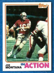 1982-Topps-In-Action-JOE-MONTANA-ex-Mt-San-Francisco-49ers-b