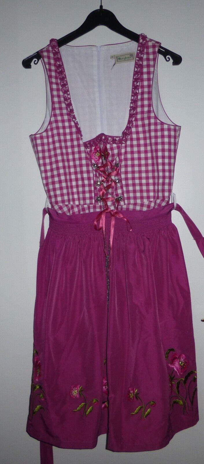 Berghaus Dirndl mit Schürze pink kariert Größe 44