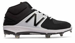 New Balance Mid-Cut 3000V3 Metal Baseball Cleat Mens Shoes Black With White