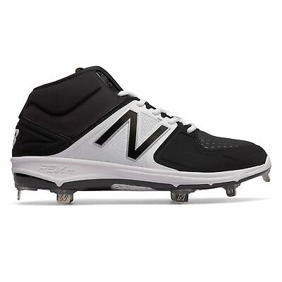 New Balance Men's Mid-Cut Metal 3000v3 Shoes Black with White