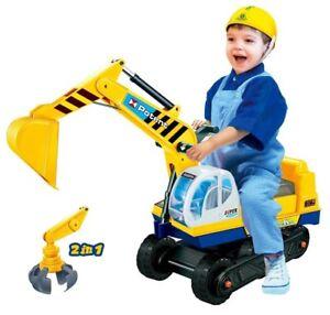 Sitzbagger-2-in-1-Kinderbagger-Rutscher-Bagger-Rutschauto-Sandbagger-Sandkasten