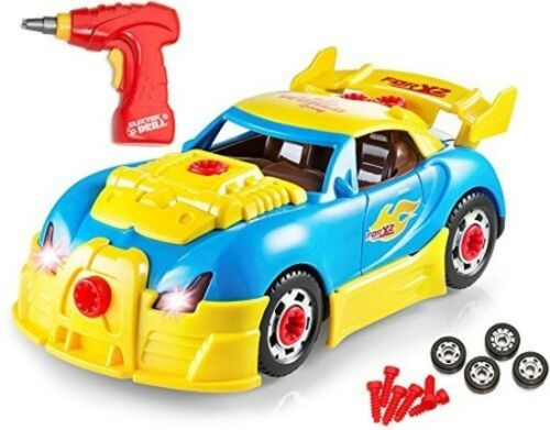 Race Car Toys Take Apart Build Your Own Toy Car with 30 Piece Construction