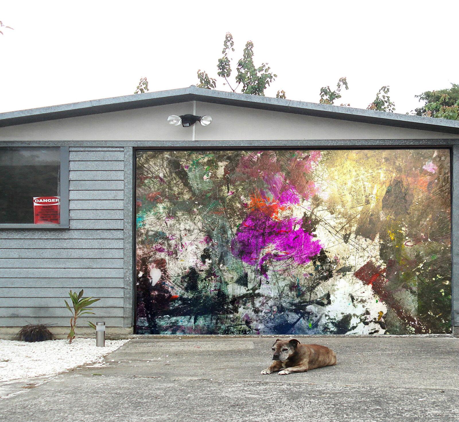 3D Pied Graffiti 3 Garage Door Murals Wall Print Decal Wall Deco AJ WALLPAPER IE