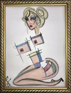 Margarita-Bonke-Malerei-PAINTING-erotica-EROTIK-Zeichnung-akt-nu-art-Nude-Unikat