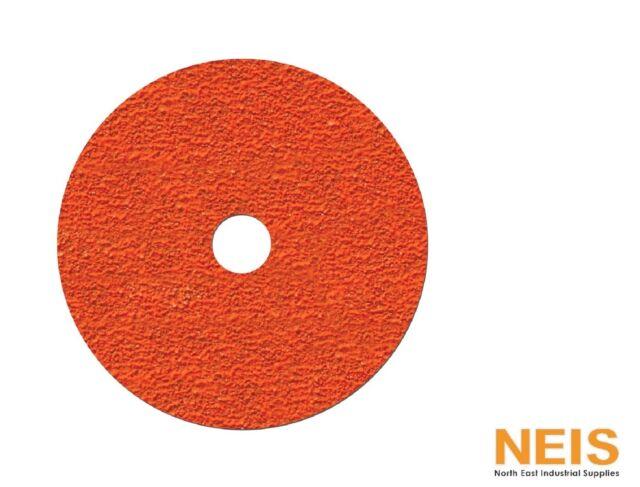 """5/"""" Box of 25 Klingspor CS561  Fibre Discs 125x22mm Grit 80"""