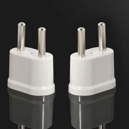 1X White Travel Charger Wall AC Power Plug Adapter Converter US USA to EU Europe