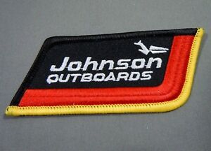 JOHNSON OUTBOARDS- Outboard Motors  Iron On Embroidered  Jacket - Cap Patch 3.5""