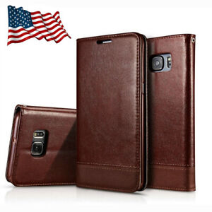 For-Samsung-Galaxy-S6-S7-S9-Leather-Wallet-Cards-Holder-Flip-Case-Stand-Cover