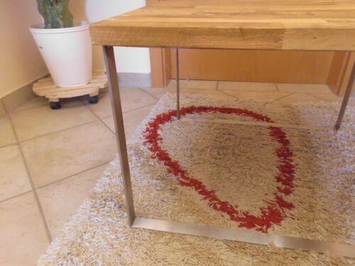 Couchtisch Wohnzimmertisch Edelstahl Silber niedrig klein Holz modern Design