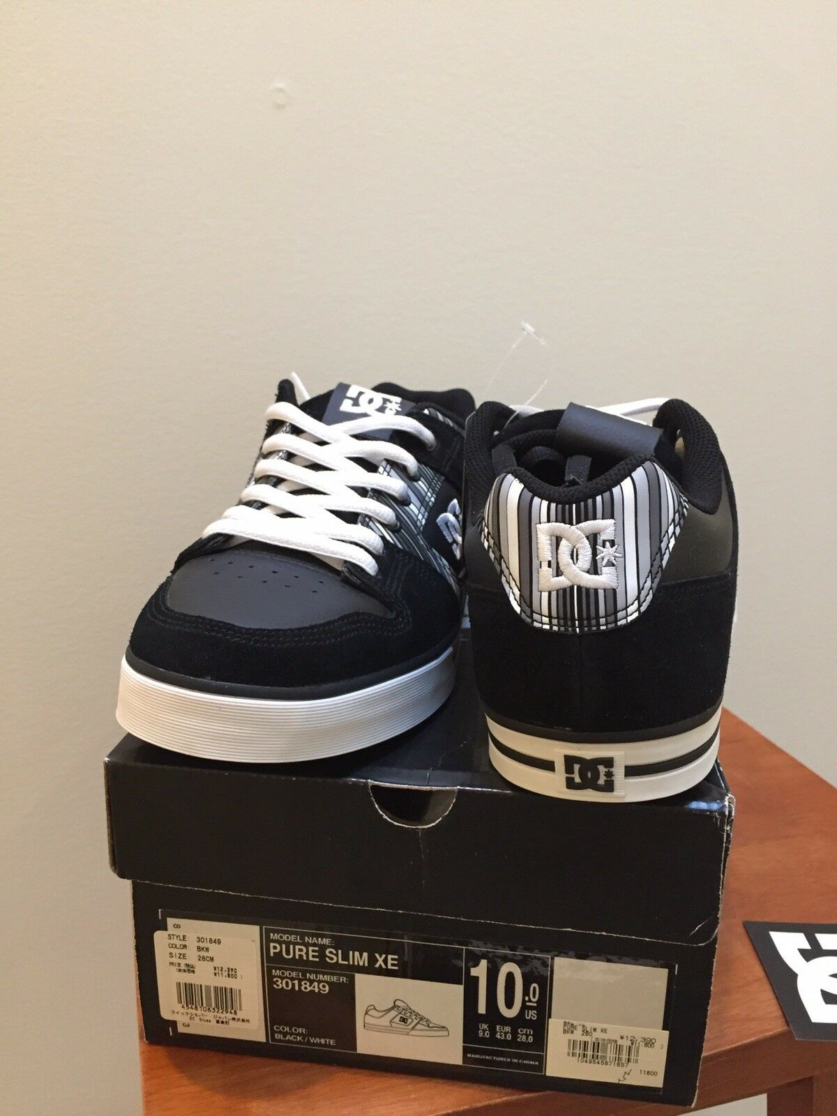 DC PURE SLIM XE 301849 (men's (men's (men's scarpe da ginnastica scarpe US10) DS Japan skateboarding e468a0