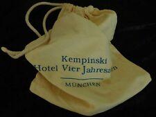 Werbeartikel Leinen Baumwolle Beutel, Kempinski Hotel Vier Jahreszeiten München
