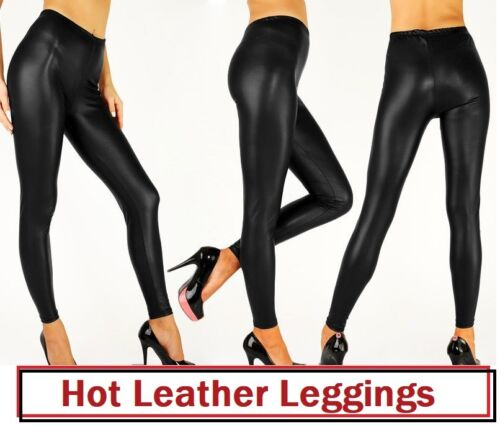Warm Winter Heavy Thick Wet Look and Cotton Latest Leggings Full Length*WetLg