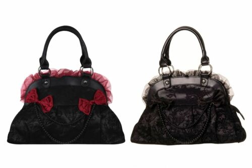 Banned Reinvention Gothic Lace /& Beaded Handbag
