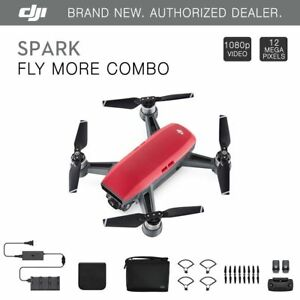 DJI-Spark-Fly-More-Combo-Lava-Red-Quadcopter-Drone-12MP-1080p-Video