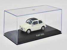 Atlas HA14 - Fiat 500 Suicide Door 1960's White 1/43 Scale On Plynth in Case T48