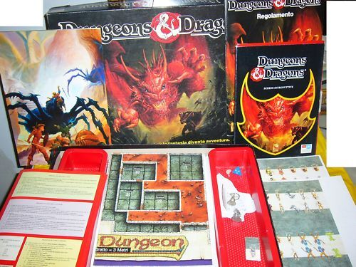 Dungeons & Dragons Board Game Gioco In Scatola Tavolo INCOMPLETO