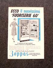 M173- Advertising Pubblicità -1960- ZOPPAS FUORISERIE '60 , NUOVO FRIGORIFERO