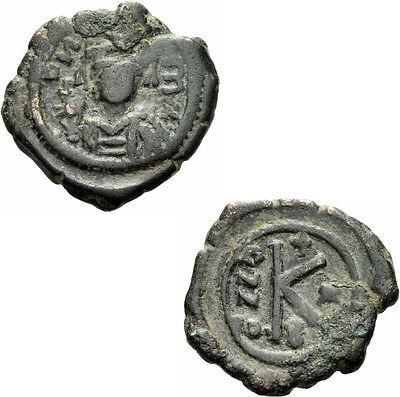 Münzen Mittelalter Gewidmet Byzanz Mauricius Tiberius Halbfollis Nikomedia 591/592 Helm Kreuzglobus Sear 514 Up-To-Date-Styling