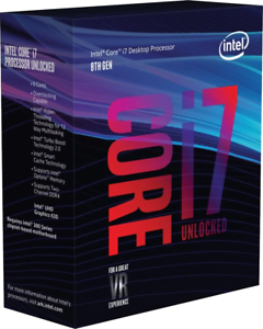 Empty original box of Intel Core i7 8700k for collection or resale purpose