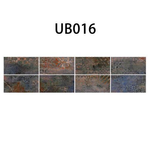 9pCS//sET 3D Self Adhesive Wall Tile Stickers Brick Kitchen Bathroom Mosaic Decor