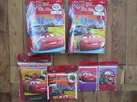 Lot Hallmark Disney Pixar Cars Party Favor Pack Banner Bags Valentine Cards