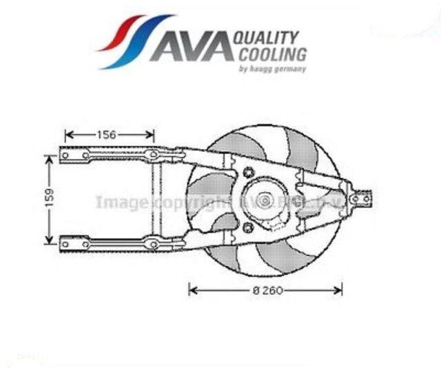 FT7543-G Ventola, Raffreddamento motore (AVA)
