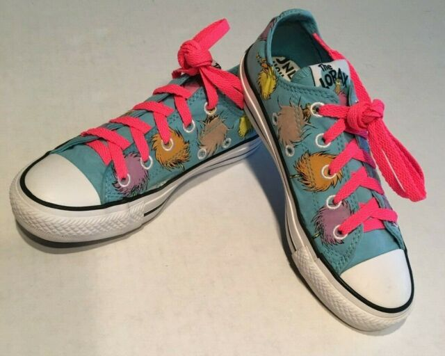 NEW Converse All Star Chuck Taylor DR SEUSS THE LORAX Low Top Tennis Shoes