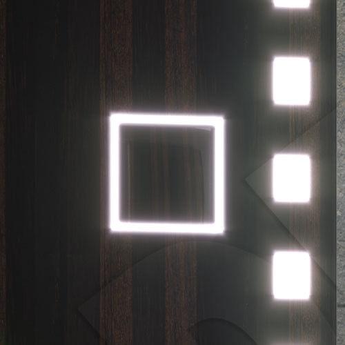 EMPOWER 140x70 LEDSPIEGEL BADSPIEGEL KOSMETIKSPIEGEL UHR HEIZMATTE