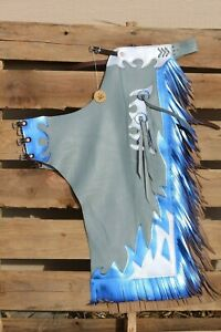 Rodeo Chaps youth large with flames