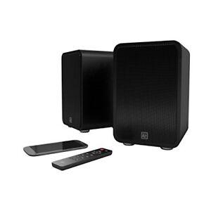 KitSound Reunion Wireless Bookshelf Speakers - Black
