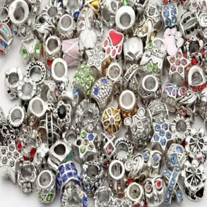 Mixed-Charms-Beads-Perlem-Mit-Grossloch-Mit-Strass-Fuer-Charm-Armbaender-ARMBAND