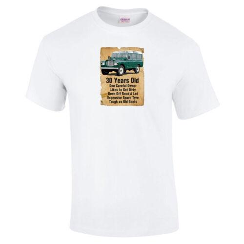 30 ans Landy Homme OFF ROAD 4x4 drôle 30th Anniversaire Cadeau T-shirt-à 5XL
