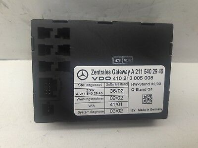 03-06 Mercedes W211 E350 E500 Central Locking Gateway Module Unit 2114452600 OEM