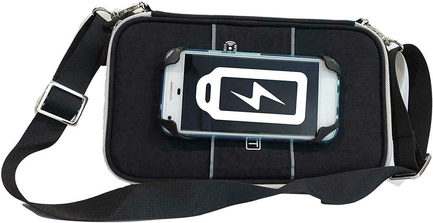 RFID Travel Wallet Passport Holder with mobile Strap by SIDEQUEST black colored - s l1600