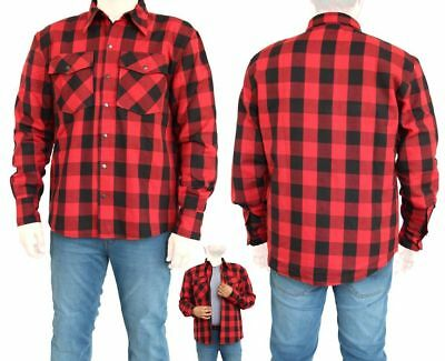CE Armour Motorcycle Cotton Flannel Lumberjack shirt Lined with DuPont Kevlar
