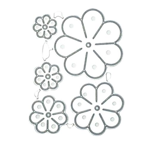 Sun flower Lace Metal Cutting Dies Stencil Scrapbooking Paper Embossing DIY #v