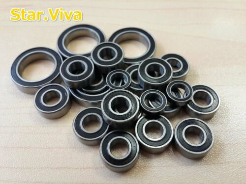 Rubber Sealed Ball Bearing Black 8pcs For Tamiya RC 58354 The Frog Sv