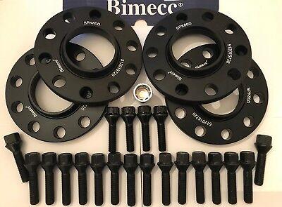 10 x 40mm Bulloni Adatto a BMW 72.6 m14x1.5 1 12mm BIMECC Nero Hub Centric Distanziatori