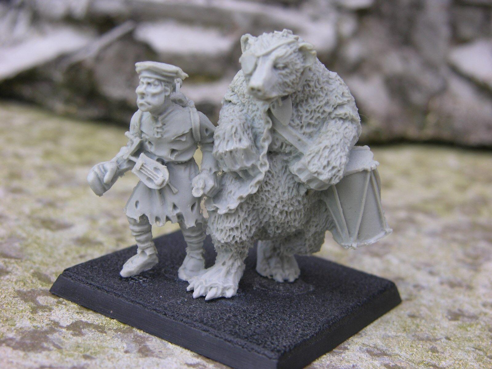 Warhammer Finecast, les citoyens de l'empire, Dancing Bear mascotte... RARE
