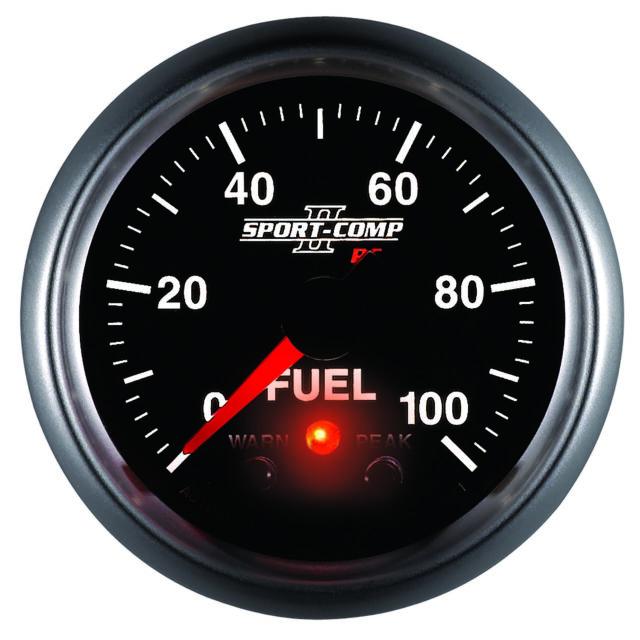 3671 Autometer Sport-Comp Ii 52Mm 0-100 Psi Fuel Pressure Gauge