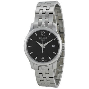 Tissot-T-Trend-Tradition-Black-Dial-Stainless-Steel-Ladies-Watch-AU