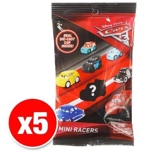 Disney Pixar Cars 3 Mini Racers Véhicules Set de 5 voitures